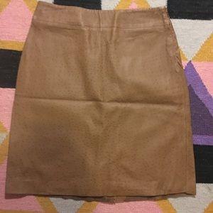 Leather Raw Edge Skirt - Size 3/4